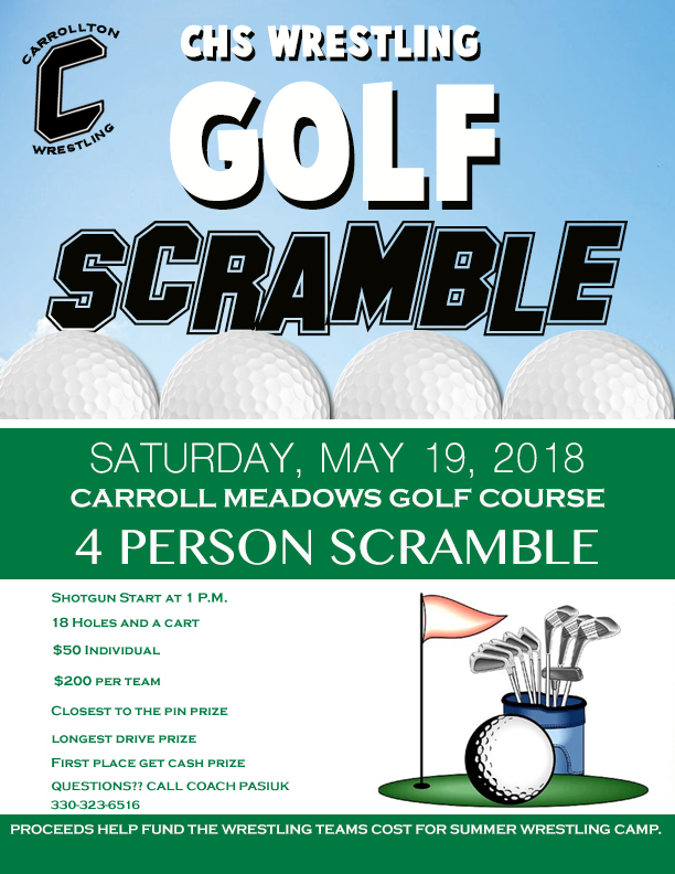 Wrestling Golf Scramble