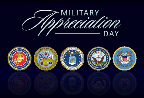 Military appreciation night Jan 19