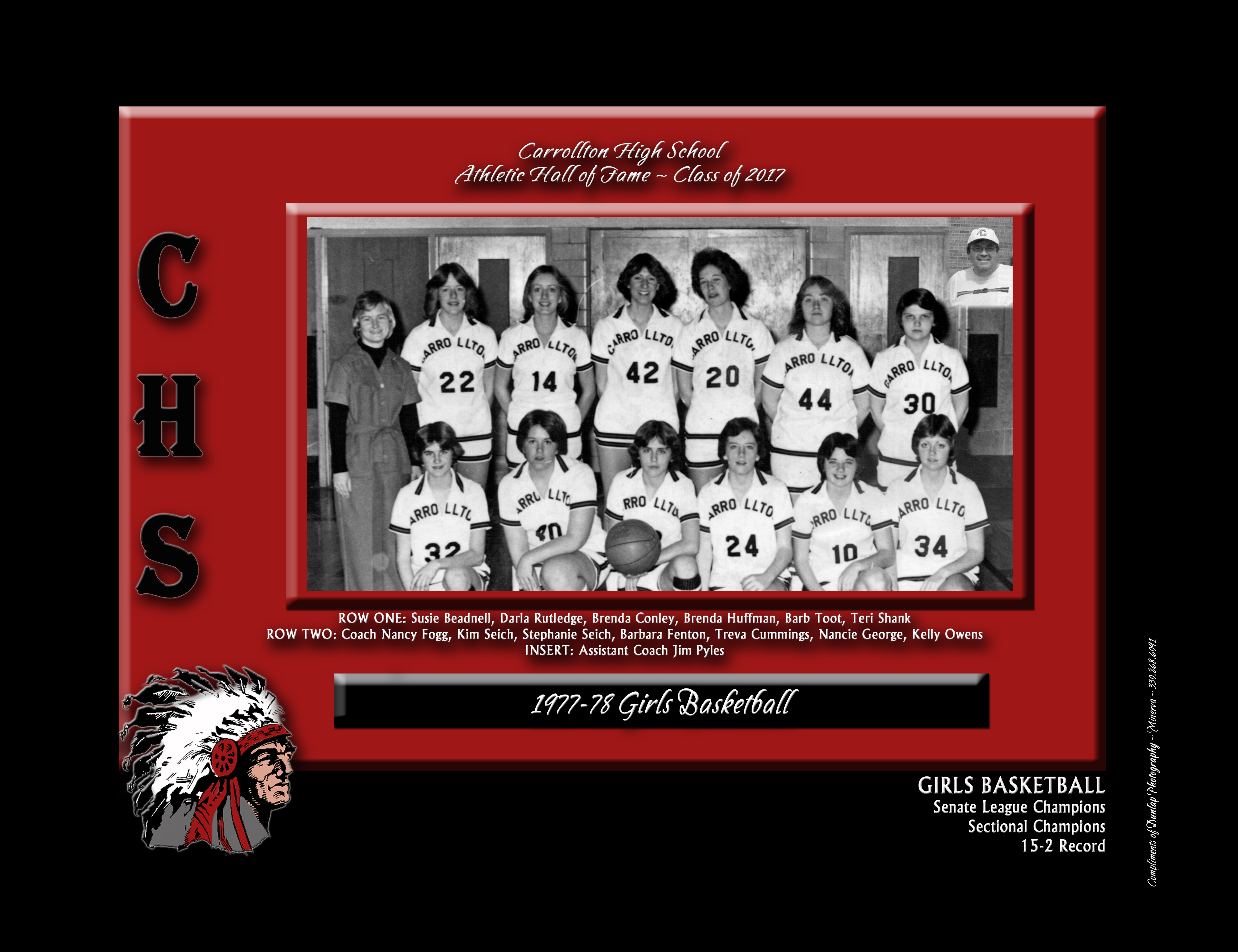 Athletic hall of fame inductees carrollton exempted village schools 1977 78 girls basketball team jeuxipadfo Gallery